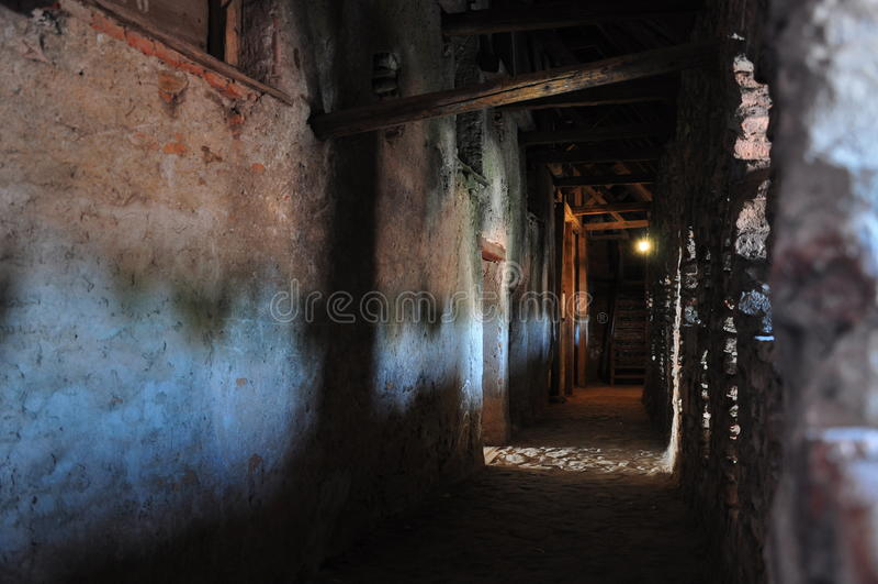 Prejmer fortificou a igreja, interior foto de stock royalty free