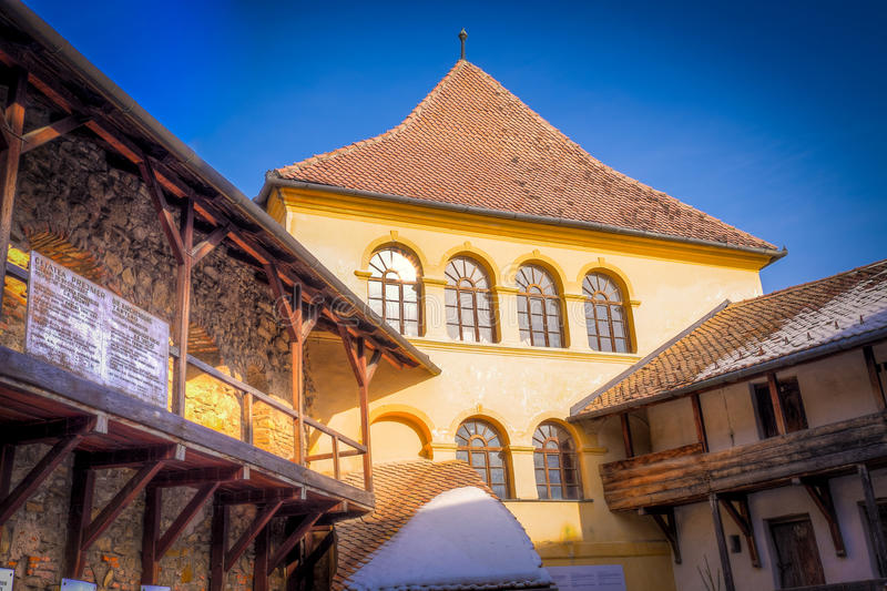 Prejmer Fortified Church - ( UNESCO World Heritage Site ) stock photography