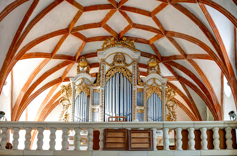 Prejmer Fortified Church Organ - ( UNESCO World Heritage Site ) stock photography