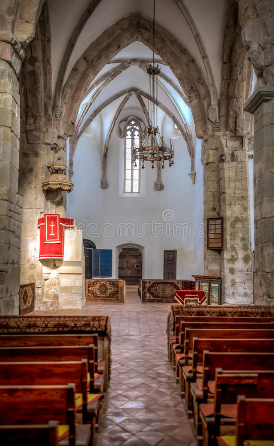 Prejmer Fortified Church Organ - ( UNESCO World Heritage Site ). The largest fortified church in southeastern Europe, Prejmer (Tartlau in German) was built by royalty free stock image