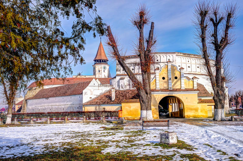 Prejmer Fortified Church Organ - ( UNESCO World Heritage Site ). The largest fortified church in southeastern Europe, Prejmer (Tartlau in German) was built by royalty free stock photography