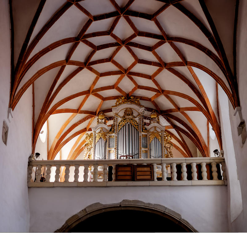 Prejmer Fortified Church Organ - ( UNESCO World Heritage Site ) royalty free stock images