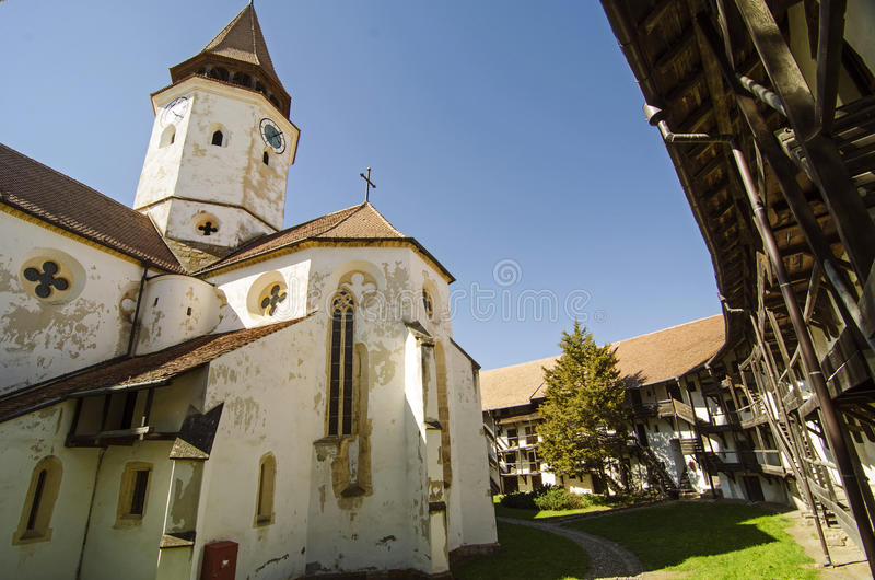 Prejmer fortified church. The Teutonic Knights constructed the fortress Tartlau in 1212–1213 as part of their colonization of the Burzenland region. The stock photography
