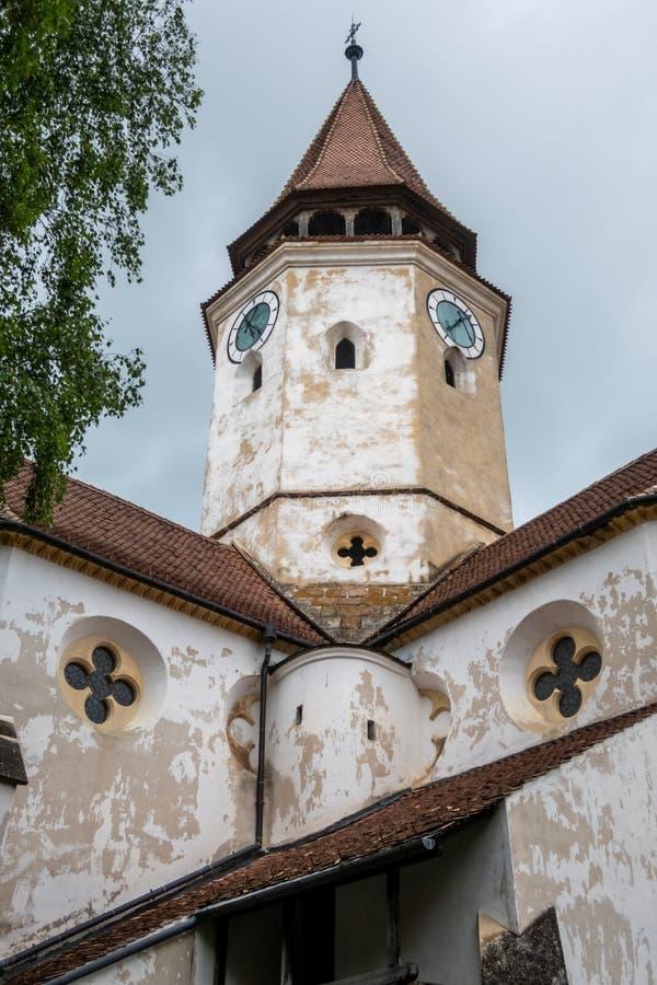 Prejmer Fortyfikował kościół, UNESCO światowego dziedzictwa miejsce w Prejmer miasteczku, Brasov okręg administracyjny, Transylva zdjęcia stock