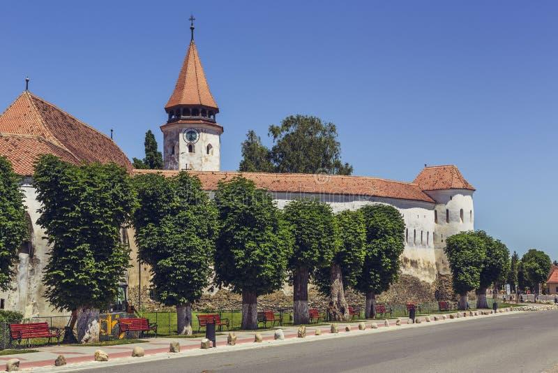 Prejmer ha fortificato la chiesa, Romania immagine stock