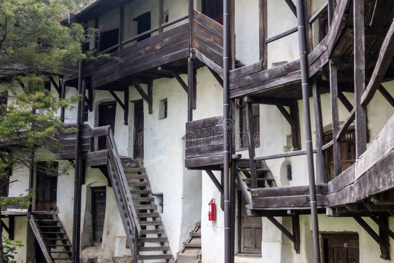 Prejmer ha fortificato la chiesa, un sito del patrimonio mondiale dell'Unesco nella città di Prejmer, contea di Brasov, la Transi fotografie stock
