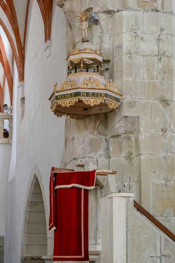PREJMER, TRANSYLVANIA/ROMANIA - 20 SEPTEMBER: Mening van pulpi royalty-vrije stock afbeelding