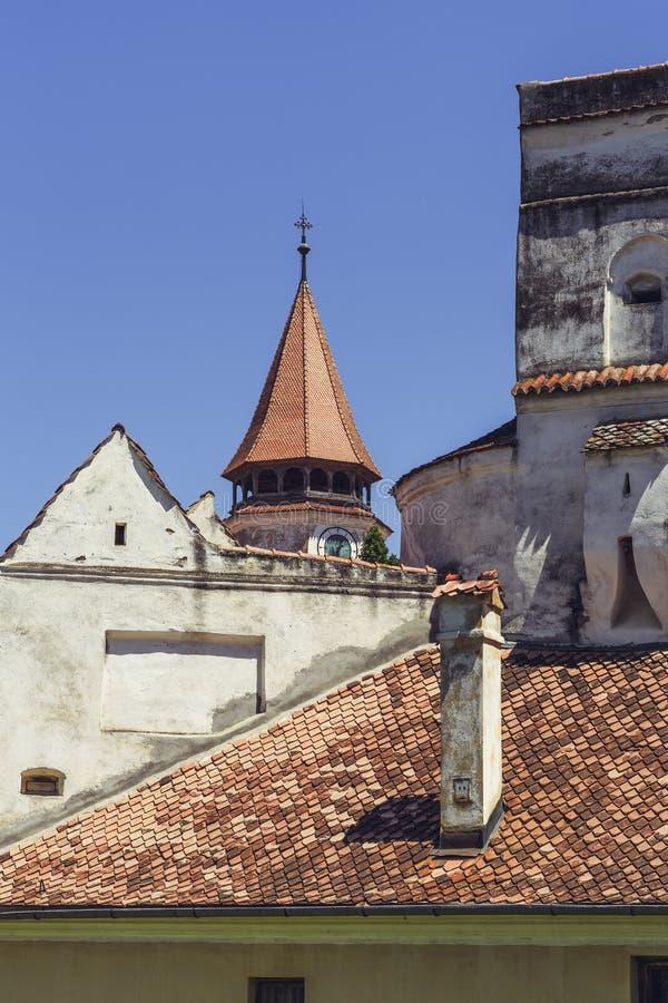 Prejmer Versterkte Kerk, Roemenië stock afbeelding