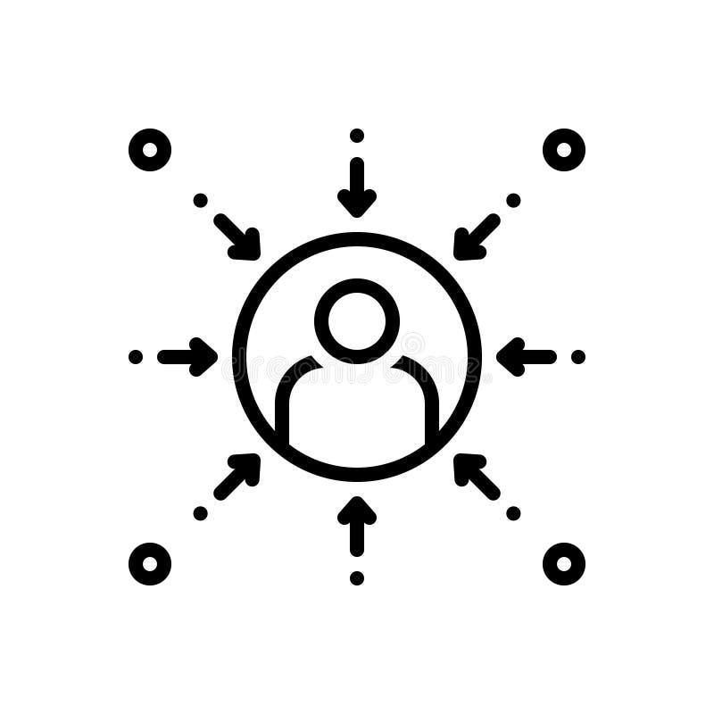 Black line icon for Prejudice, bias and favoritism. Black line icon for Prejudice, partiality, partisanship, discrimination,  bias and favoritism royalty free illustration