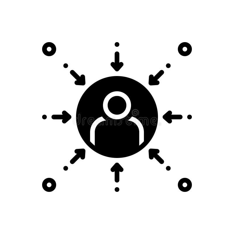 Black solid icon for Prejudice, bias and favoritism. Black solid icon for Prejudice,  partiality, partisanship, discrimination,  bias and favoritism royalty free illustration