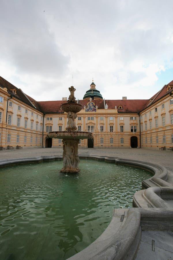 Prelate`s courtyard of Melk abbey in Austria royalty free stock photo