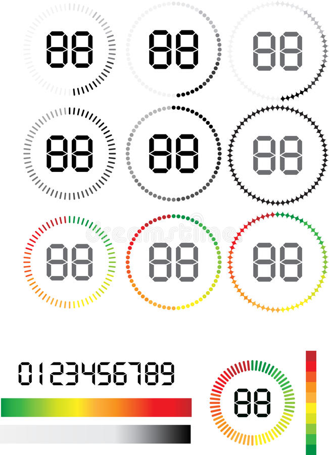 Preloaders vektor illustrationer