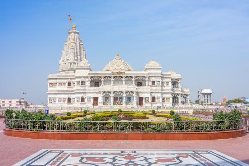 Prem Mandir em vrindavan, mathura imagens de stock royalty free