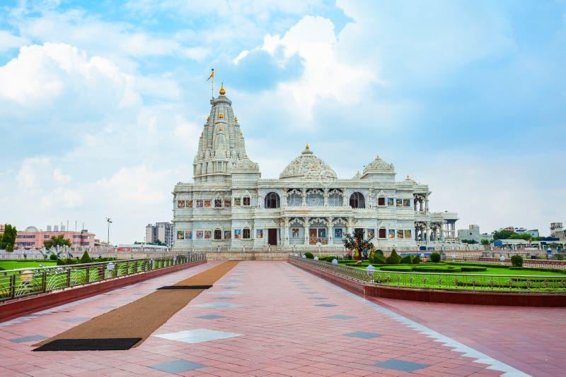 Prem Mandir Krishna Temple寺, Vrindavan 库存照片