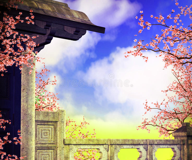 Premade Chines Background stock photo