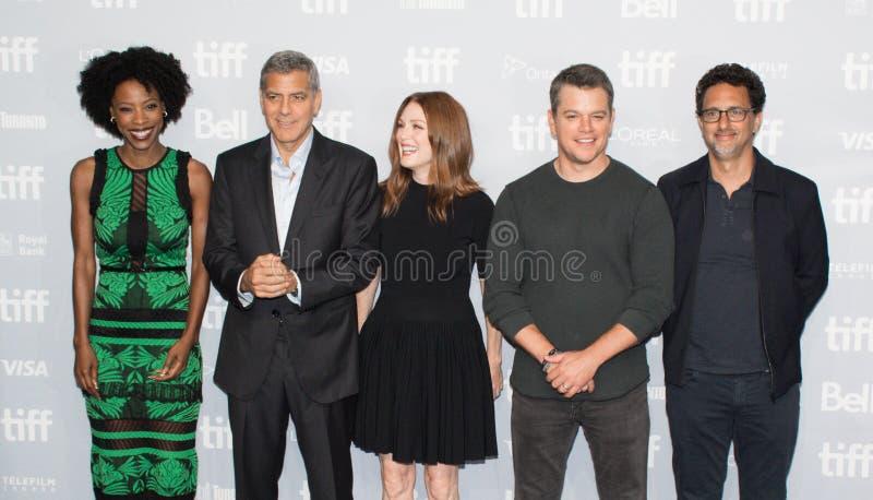 Premiär för ` för Matt Damon `-nedskärning på Toronto den internationella filmfestivalen 2017 arkivfoto