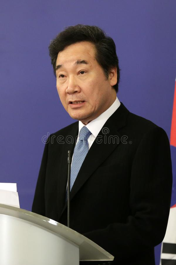 Premiärminister av Republiken Korea läNak-yeon royaltyfri foto