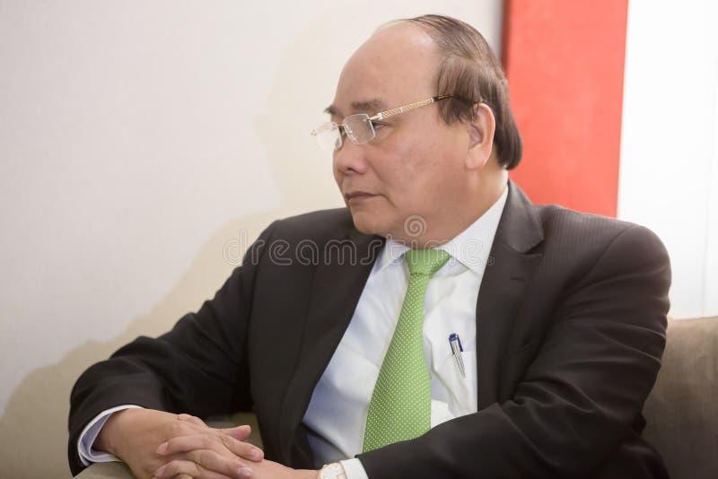 Premiärminister av Vietnam Nguyen Xuan Fukom royaltyfri bild