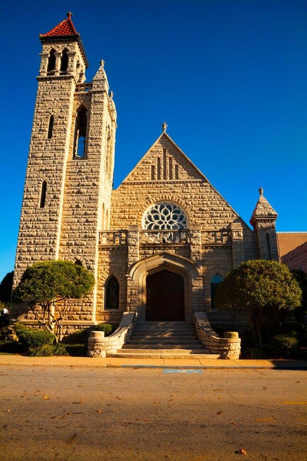 Première église presbytérienne dans Fort Smith, Arkansas images libres de droits