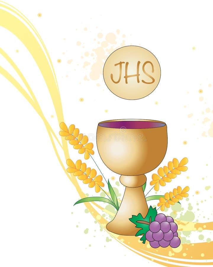 Première communion illustration stock