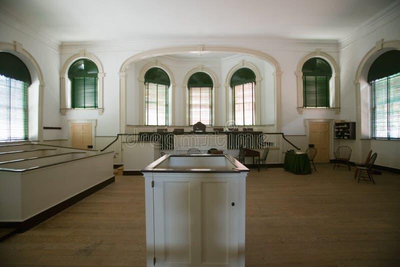 Première court suprême des USA dans l'indépendance Hall à Philadelphie, Pennsylvanie images libres de droits