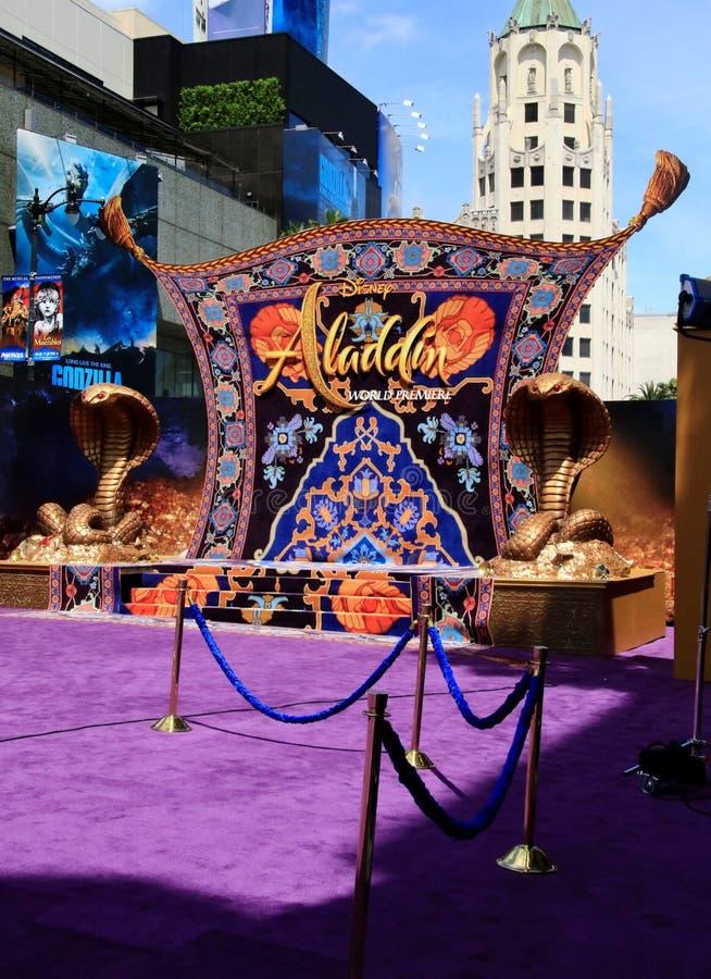 Première d'Aladdin au théâtre d'EL Capitan photos libres de droits