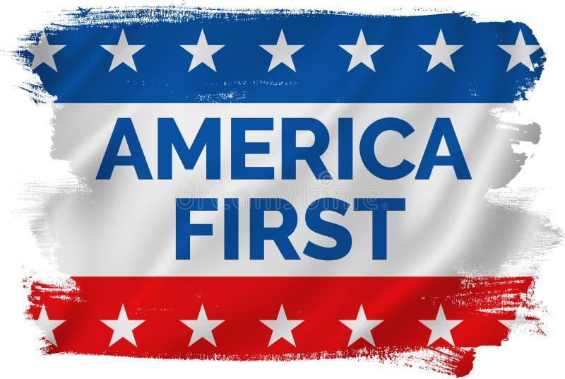 Première Etats-Unis bannière patriotique de l'Amérique illustration stock