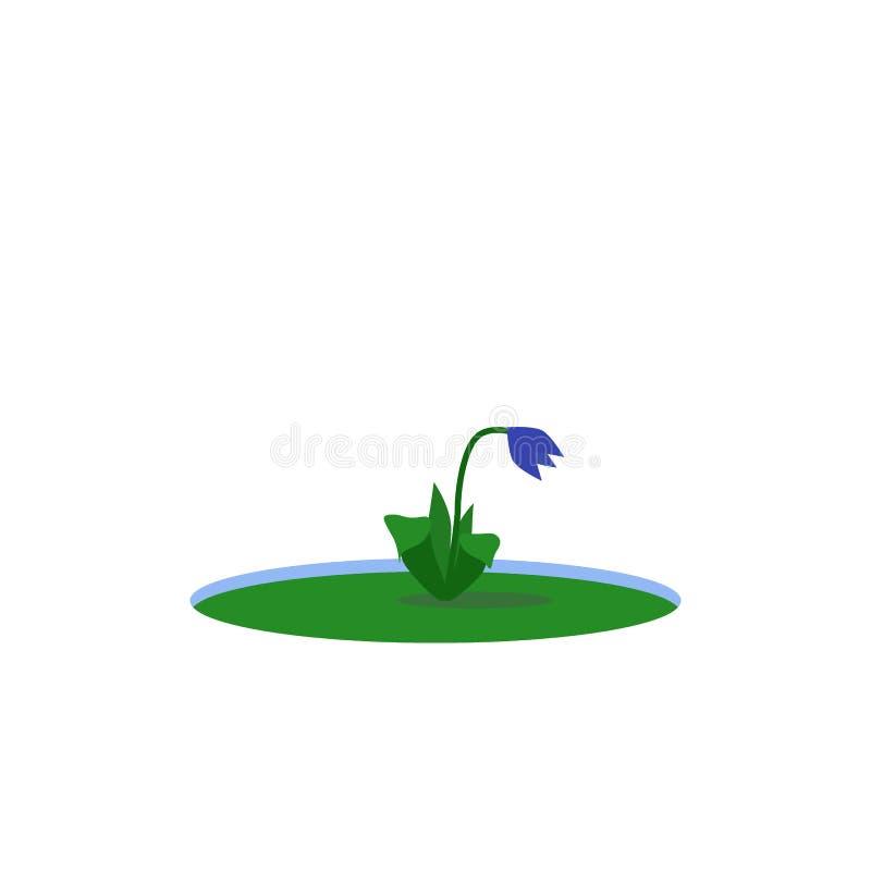 Première fleur hors de la neige illustration stock