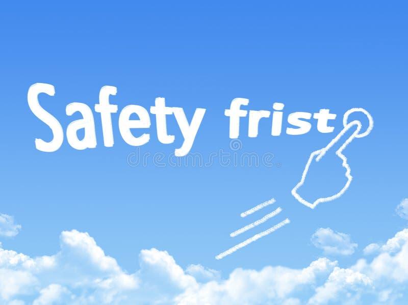 Première forme de nuage de message de sécurité illustration libre de droits