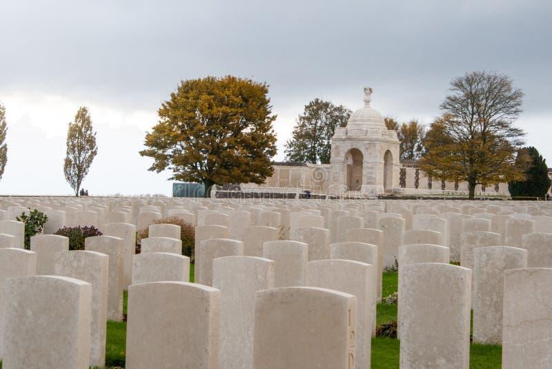 Première Guerre Mondiale Flandre Belgique de soldats tombée par cimetière photo libre de droits