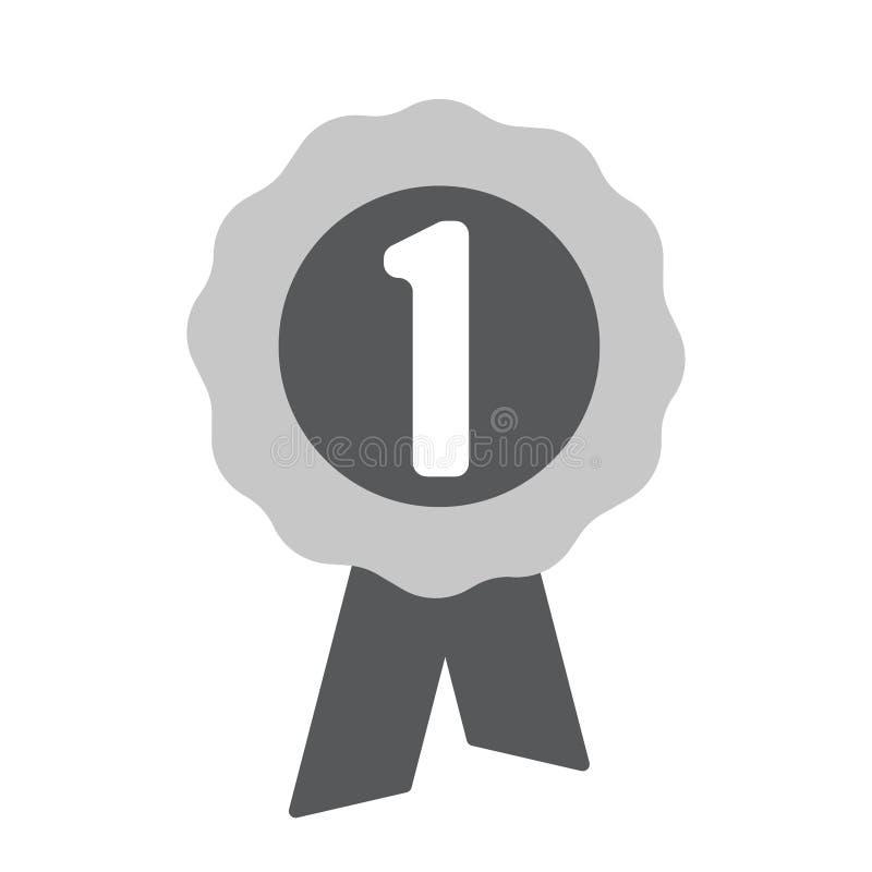 Première icône de récompense d'endroit Une d'icônes de Web d'ensemble illustration libre de droits