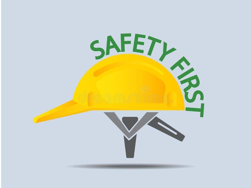 Première illustration de vecteur de casque antichoc de sécurité illustration de vecteur