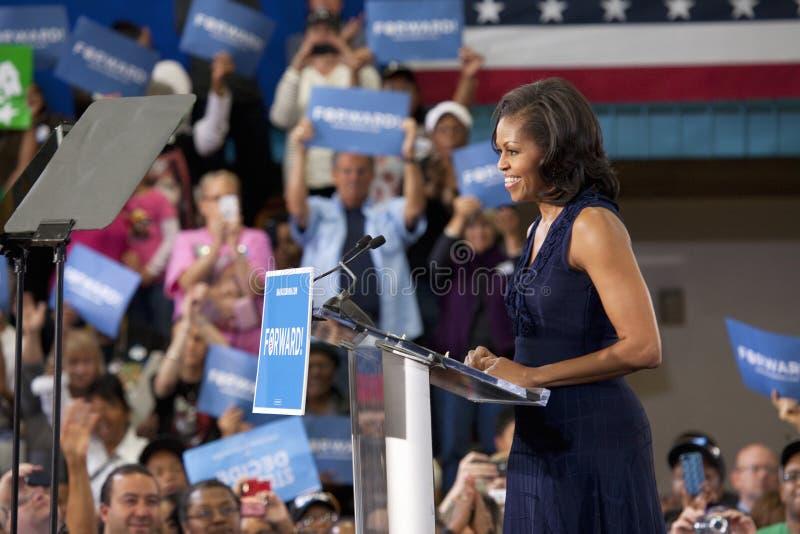 Première Madame Michelle Obama photographie stock libre de droits