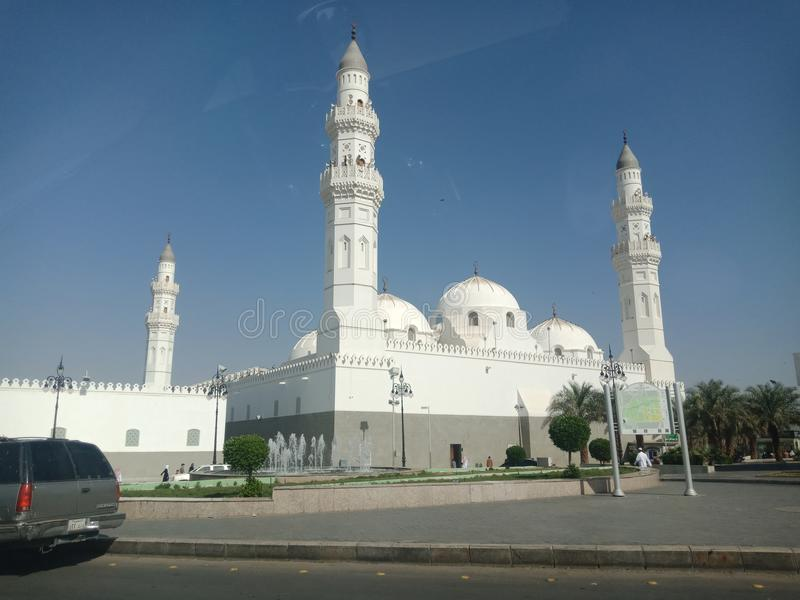 Première mosquée Quba de l'Islam photos stock