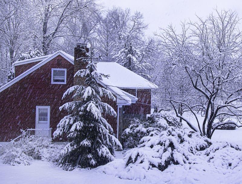 Première tempête de neige de la saison photos libres de droits