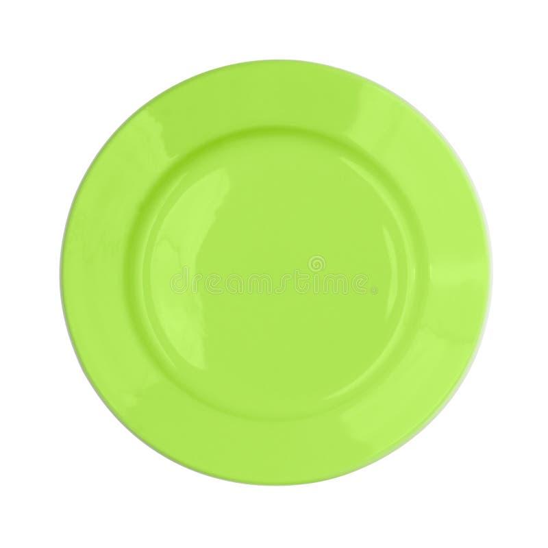 Première vue d'isolement par plaque verte photo stock