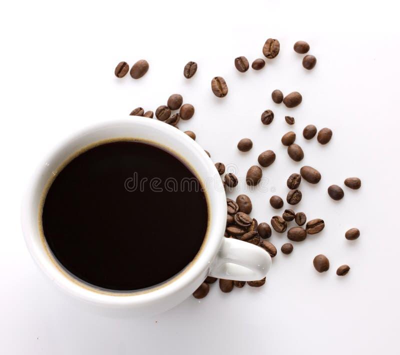 Première vue d'une cuvette de café photos libres de droits