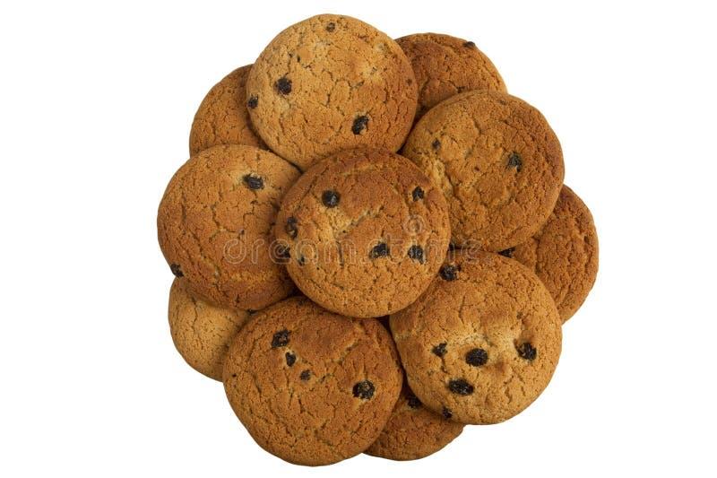 Première vue de biscuit photo stock