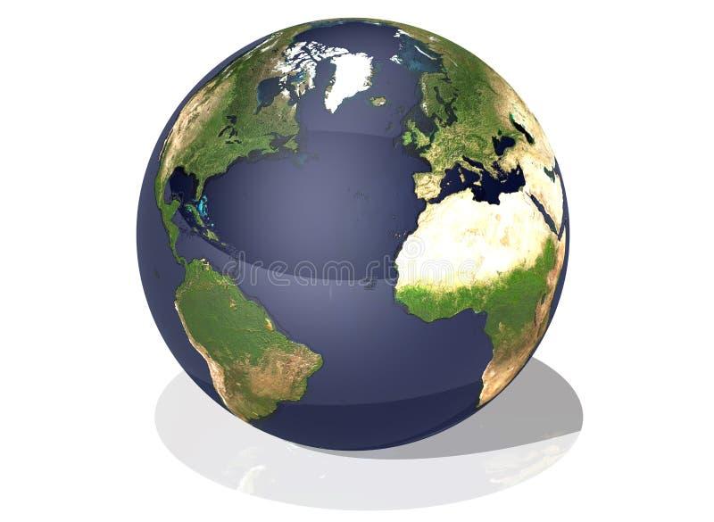 première vue de la terre illustration stock