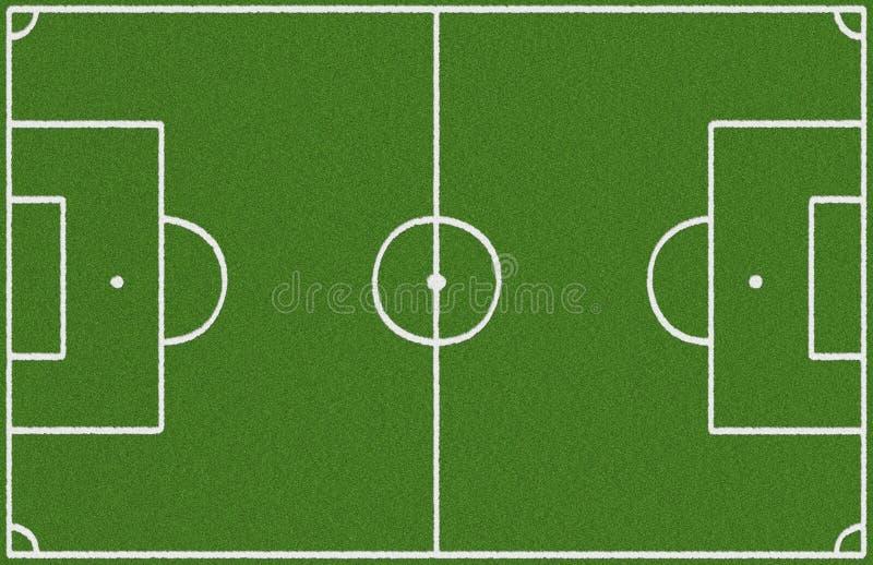 Première vue de terrain de football images stock