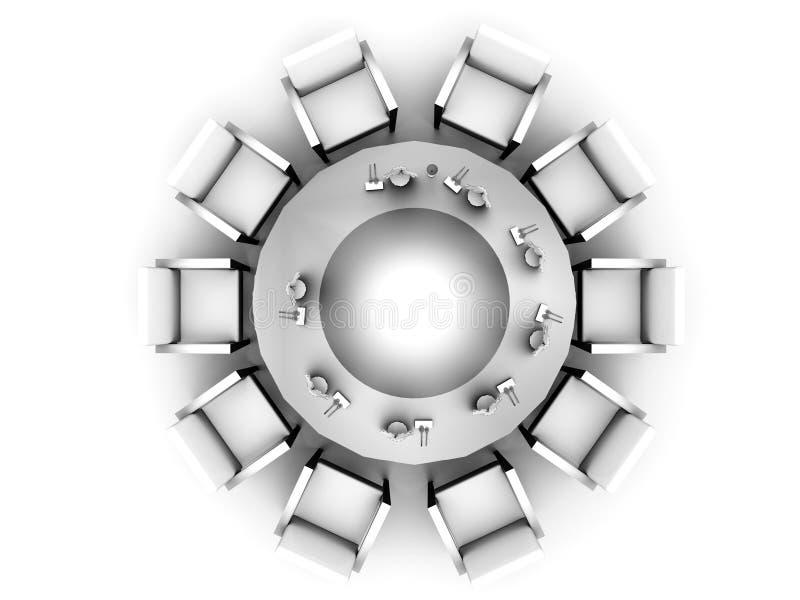 Première vue sur une table ronde illustration libre de droits