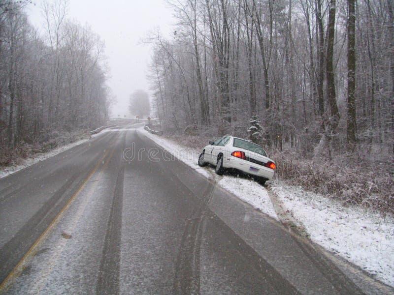 Premières chutes de neige photographie stock