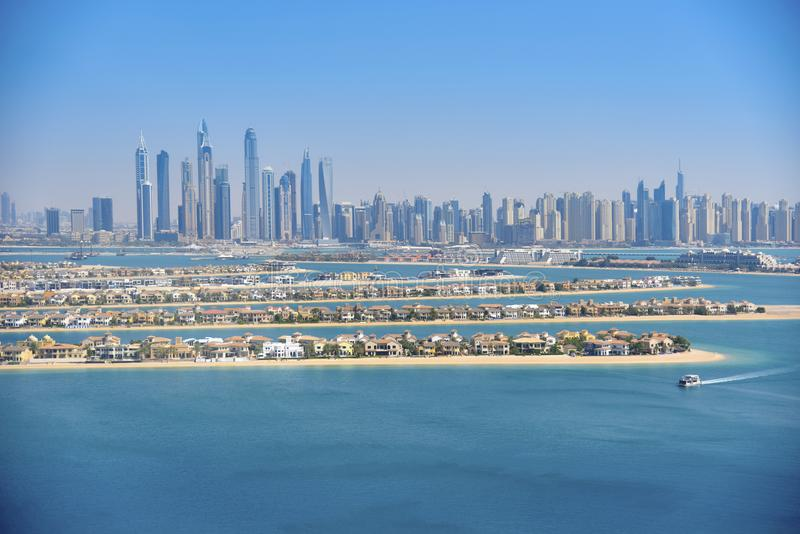 Premières vues à partir du dessus du Burj Khalifa Les Emirats Arabes Unis photographie stock libre de droits