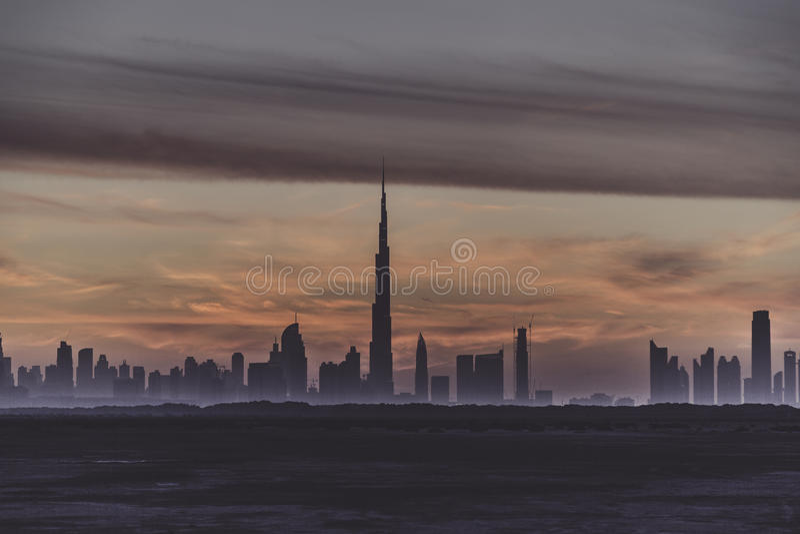 Premières vues à partir du dessus du Burj Khalifa photos stock