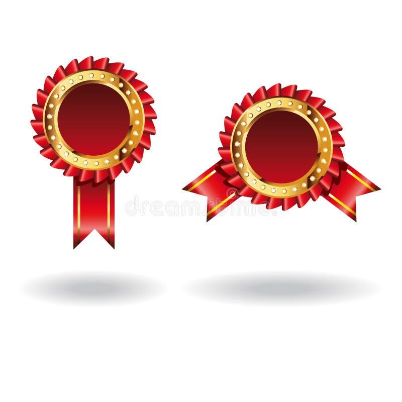 Premi di colore rosso di vettore illustrazione di stock