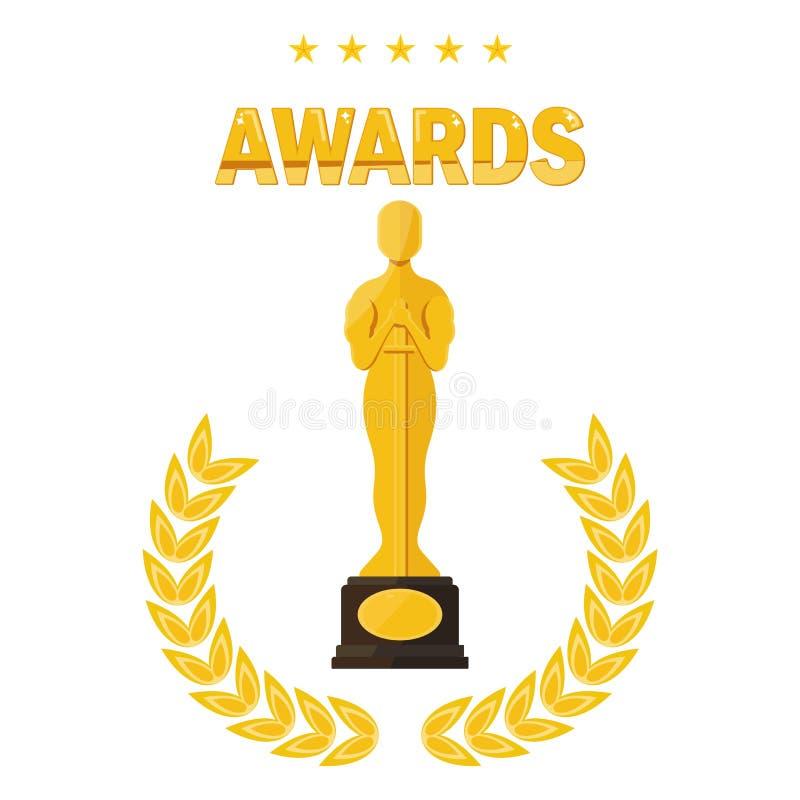Premi di festival cinematografico di Oscar illustrazione di stock