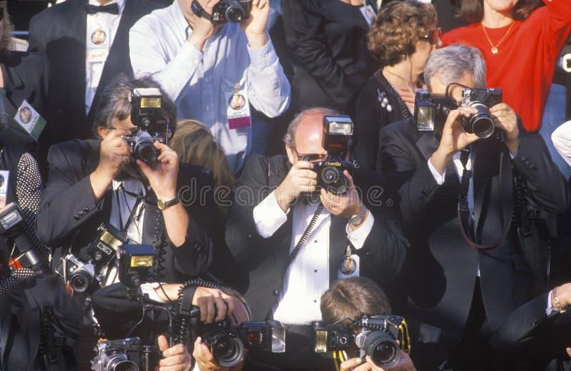 Premi fotografare la celebrità ai sessantaduesimi Oscar annuali, Los Angeles, la California fotografia stock libera da diritti