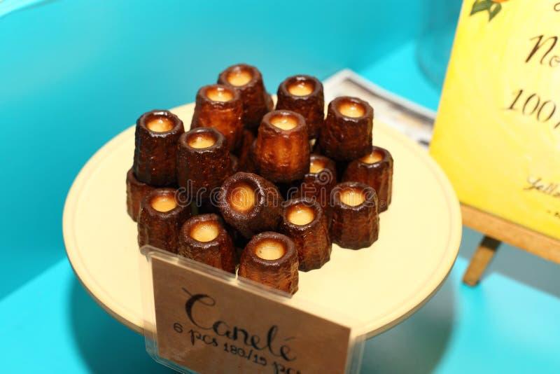 Premi il giro in FoodLoft per presentare il nuovo nemu del dessert fotografia stock