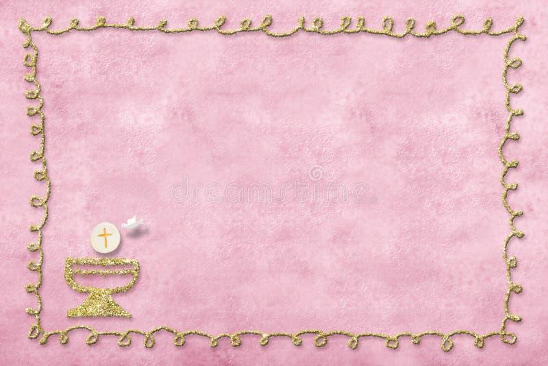 Premi?re carte d'invitation de sainte communion photo libre de droits