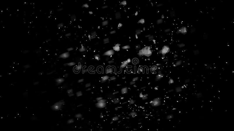 Premi?re texture en baisse de bokeh de neige sur le fond noir Texture d'hiver ?l?ment de conception illustration de vecteur
